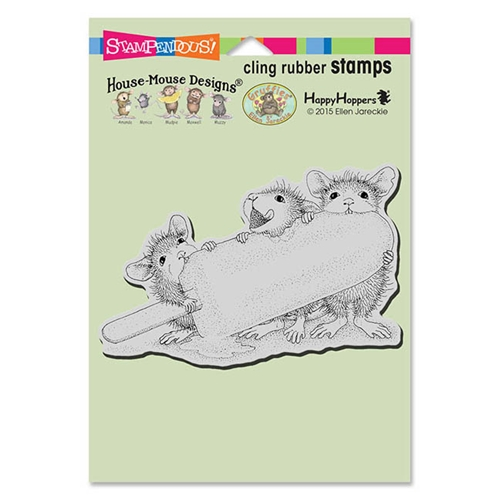 Stampendous, House Mouse Ice Pop Treat Cling Stamp