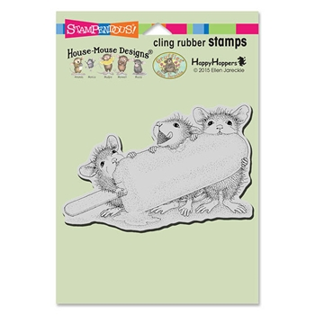 Stampendous Cling Stamp ICE POP TREAT Rubber UM HMCP76 House Mouse
