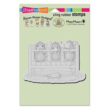 Stampendous Cling Stamp CRIB TIME Rubber UM HMCP78 House Mouse
