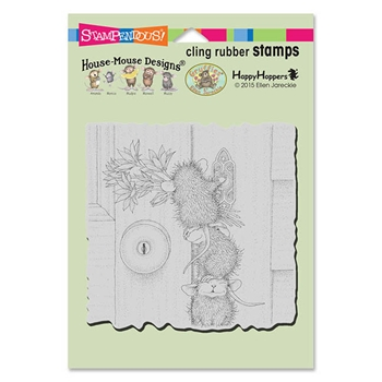 Stampendous Cling Stamp DOORBELL RINGERS Rubber UM HMCW07 House Mouse