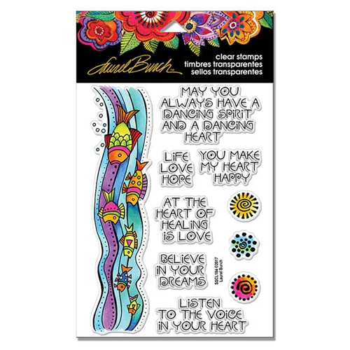 Stampendous Clear Stamps FISH WISHES Laurel Burch SSCL104 Preview Image