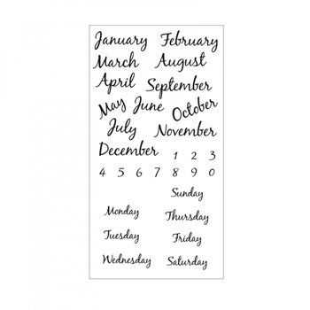 Sizzix Clear Stamps CALENDAR Set 661888