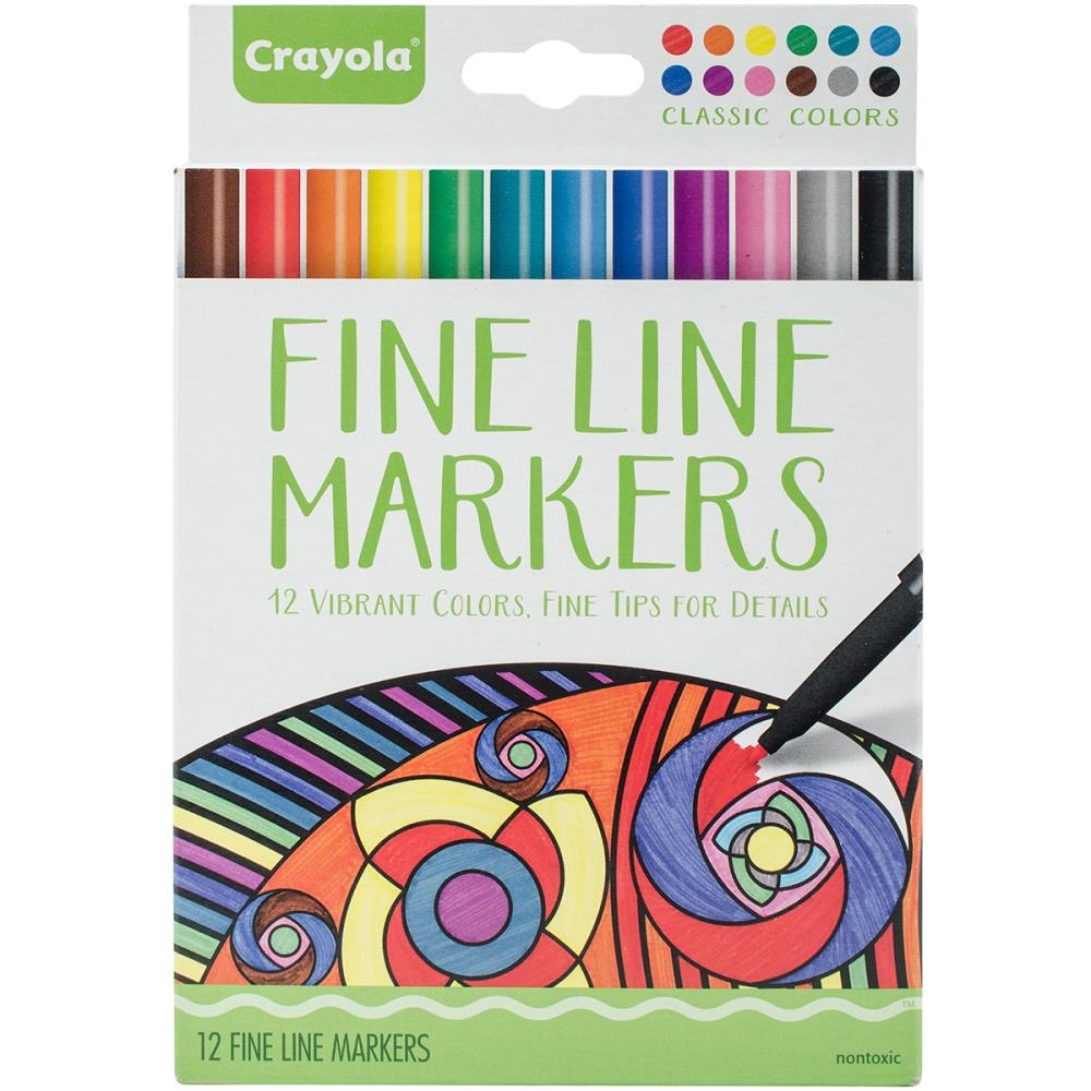 Crayola CLASSIC COLORS Fine Line Marker Set 587713 zoom image
