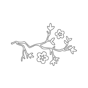 Flora and Fauna CHERRY BRANCH WITH FLOWERS DIE Set 30001