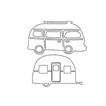 Flora and Fauna BUS AND CAMPER Die Set 30008
