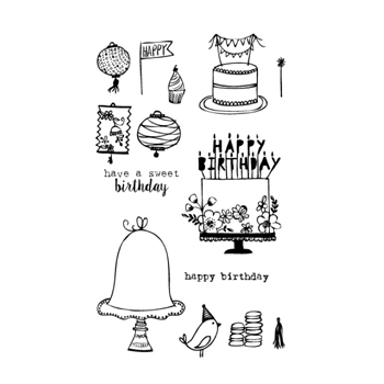 Flora and Fauna BIRTHDAY Clear Stamp Set 20115