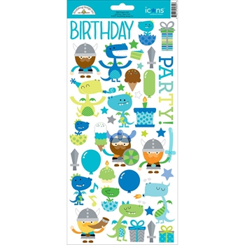 Doodlebug DRAGON TAILS ICONS Cardstock Stickers 5604