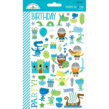 Doodlebug DRAGON TAILS Mini Icons Sticker Sheets 5711