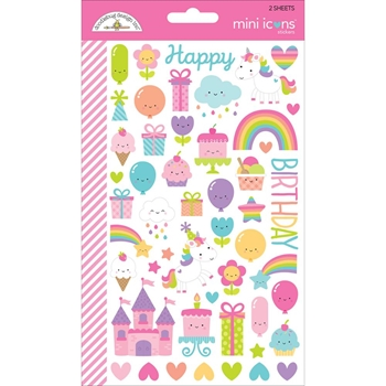Doodlebug FAIRY TALES Mini Icons Sticker Sheets 5710