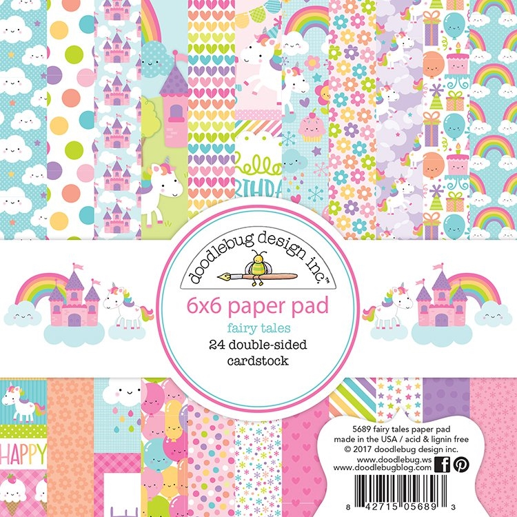 Doodlebug FAIRY TALES 6x6 Paper Pad 5689 zoom image