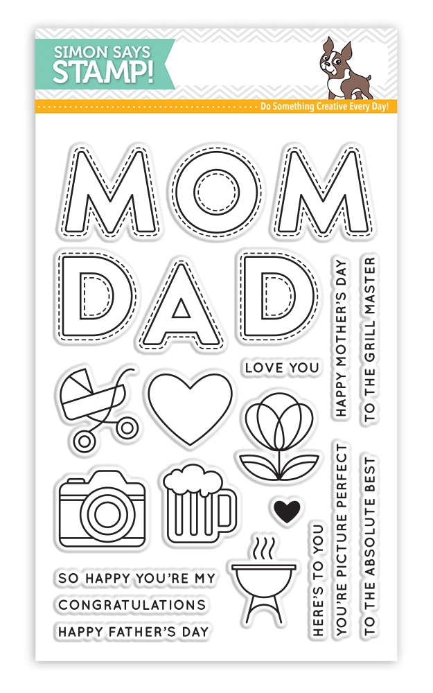 Simon Says Clear Stamps MOM AND DAD ICONS SSS101725 Mothers Fathers Florals zoom image