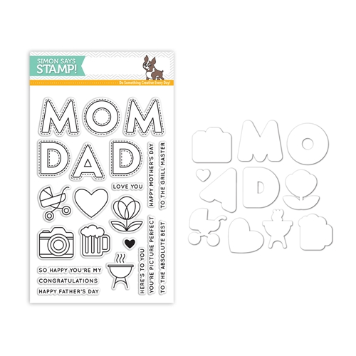 Simon Says Stamps And Dies MOM AND DAD ICONS Set298MDI Mothers Fathers Florals Preview Image