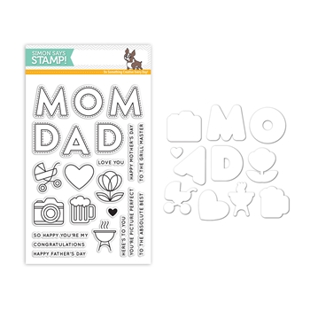 Simon Says Stamps And Dies MOM AND DAD ICONS Set298MDI Mothers Fathers Florals