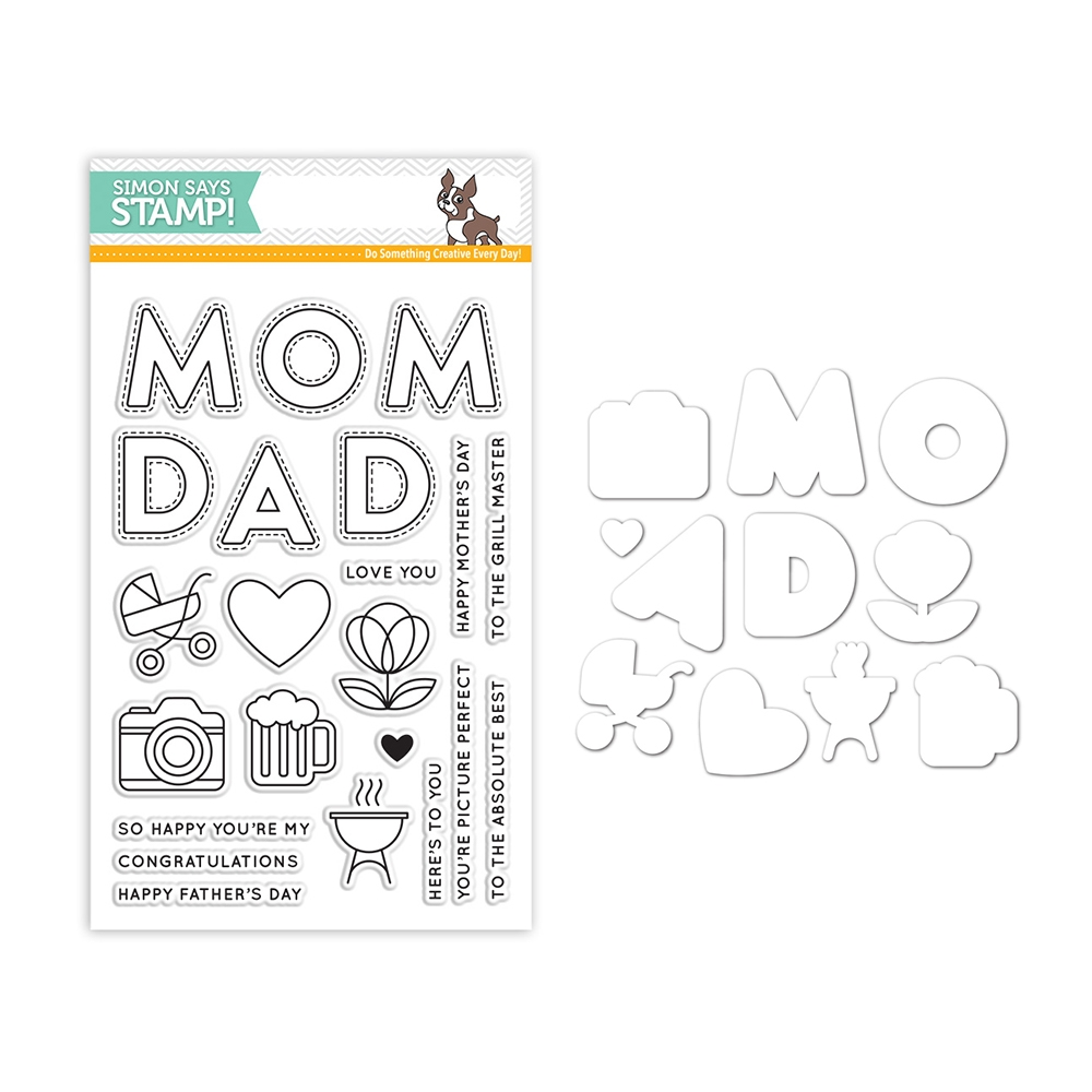 Simon Says Stamps And Dies MOM AND DAD ICONS Set298MDI Mothers Fathers Florals zoom image