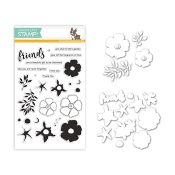 Simon Says Stamps And Dies FORGET ME NOT TRIO Set300FMT Mothers Fathers Florals
