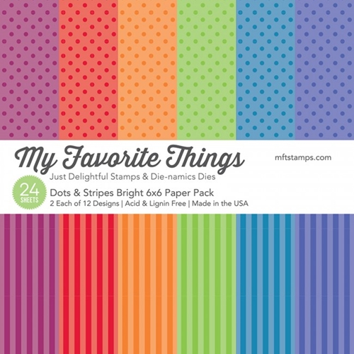 My Favorite Things Dots and Stripes Bright 6x6