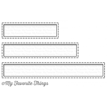 My Favorite Things STITCHED RECTANGLE WORD WINDOWS Die-Namics MFT1086