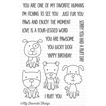 My Favorite Things FOUR LEGGED FRIENDS Clear Stamps CS186