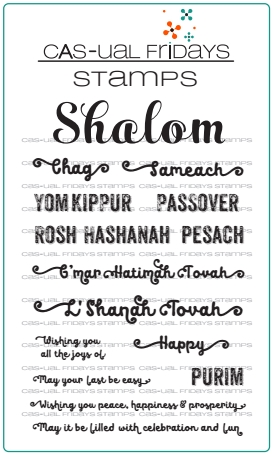 CAS-ual Fridays SHALOM Clear Stamps CFS1713 zoom image