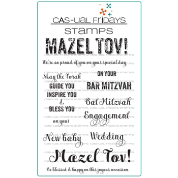 CAS-ual Fridays MAZEL TOV Clear Stamps CFS1714