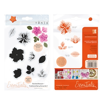 Tonic TRADITIONAL SPRAY 1 Bunched Bouquet Clear Stamp Set 1360E
