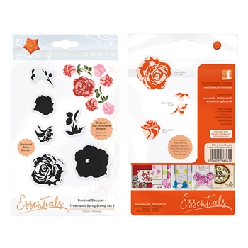Tonic TRADITIONAL SPRAY 2 Bunched Bouquet Clear Stamp Set 1361E