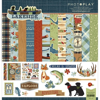 PhotoPlay LAKESIDE 12 x 12 Collection Pack CL2521