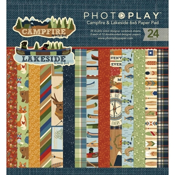 PhotoPlay CAMPFIRE AND LAKESIDE 6 x 6 Paper Pad CL2522