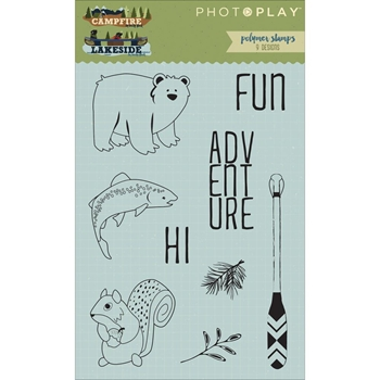 PhotoPlay CAMPFIRE AND LAKESIDE Clear Stamp Set CL2524