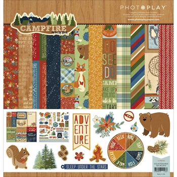 PhotoPlay CAMPFIRE 12 x 12 Collection Pack CL2513