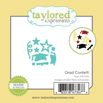 Taylored Expressions Little Bits GRAD CONFETTI Die Set TE1058
