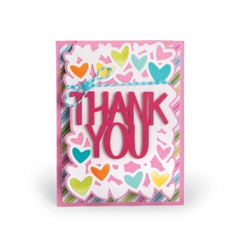 Sizzix Framelits THANK YOU DROP IN Wafer Thin Die Set 661832