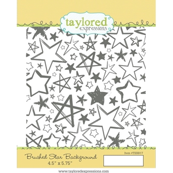 Taylored Expressions BRUSHED STAR BACKGROUND Cling Stamp TEBB17