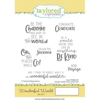 Taylored Expressions WONDERFUL WORLD Cling Stamp Set TEMD107