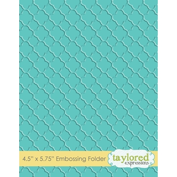 Taylored Expressions QUARTREFOIL Embossing Folder TEEF60