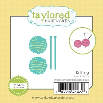Taylored Expressions Little Bits KNITTING Die Set TE1076