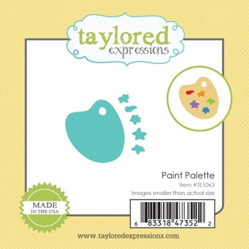 Taylored Expressions Little Bits PAINT PALETTE Die Set TE1063