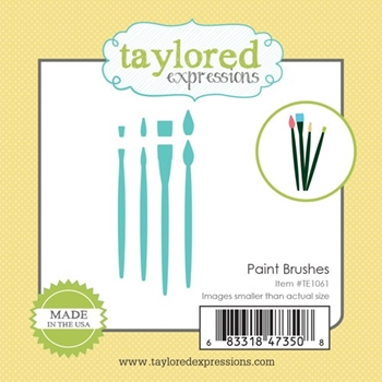 Taylored Expressions Little Bits PAINT BRUSHES Die Set TE1061