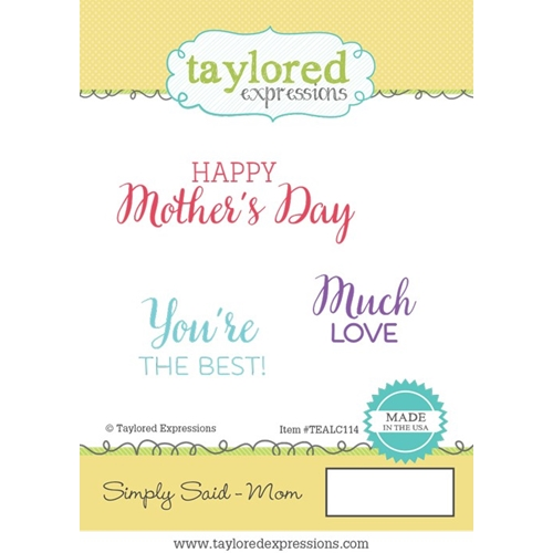 Taylored Expressions SIMPLY SAID MOM Cling Stamp Set TEALC114 Preview Image
