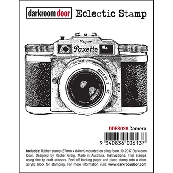 Darkroom Door Cling Stamp CAMERA Eclectic Rubber UM DDES038