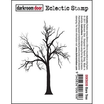 Darkroom Door Cling Stamp BARE TREE Eclectic Rubber UM DDES035