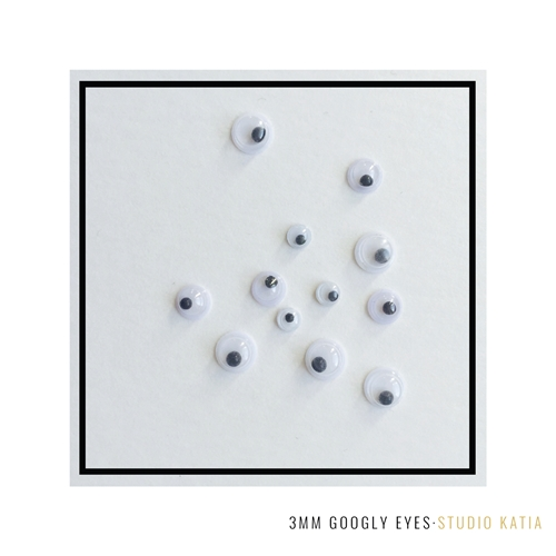 Studio Katia 3mm Googly Eyes