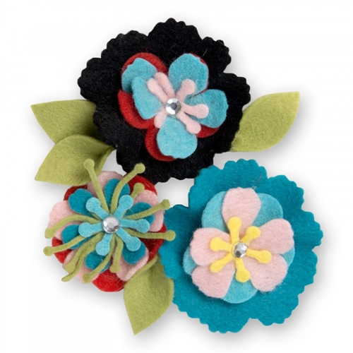 Sizzix STITCHY FLOWERS AND LEAF Thinlits Die Set 661903 Preview Image