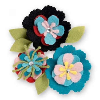 Sizzix STITCHY FLOWERS AND LEAF Thinlits Die Set 661903