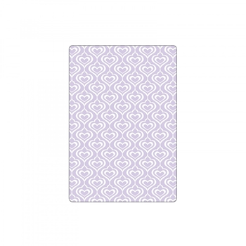 Sizzix HEARTS Embossing Folder Textured Impressions 661886