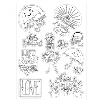 Sizzix ENJOY EVERY DAY Coloring Stickers 662013