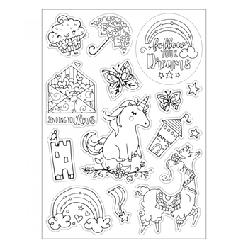 Sizzix FOLLOW YOUR DREAMS Coloring Stickers 662014