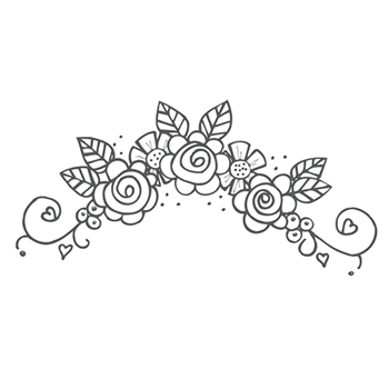 SBS-081 Spellbinders FLOWER SWAG 5 Cling Stamp Tammy Tutterow