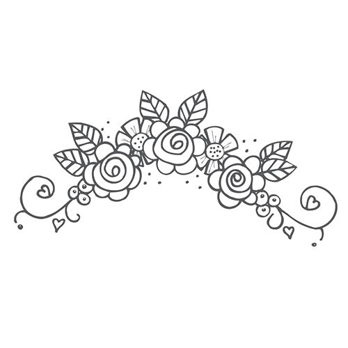 SBS-081 Spellbinders FLOWER SWAG 5 Cling Stamp Tammy Tutterow zoom image