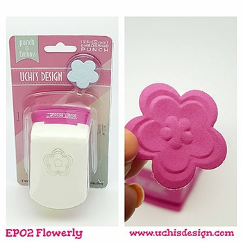 Uchi's Design FLOWERLY Embossing Punch EP02